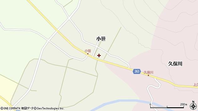 山形県上山市小笹14周辺の地図