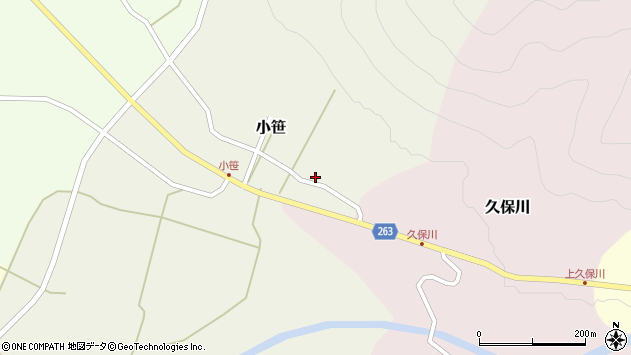山形県上山市久保川163周辺の地図