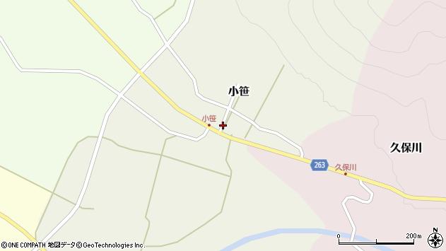 山形県上山市小笹13周辺の地図