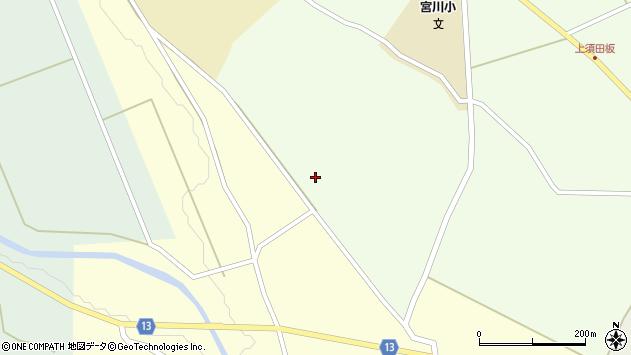 山形県上山市楢下元屋敷周辺の地図