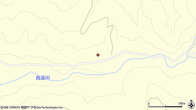山形県上山市菖蒲1826周辺の地図