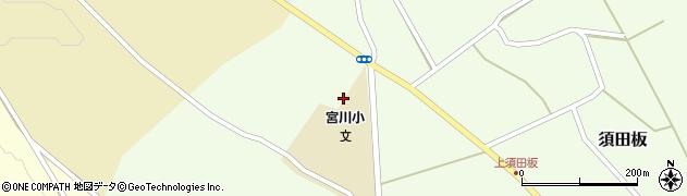 山形県上山市須田板原際周辺の地図