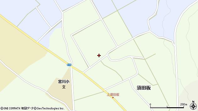 山形県上山市須田板谷地195周辺の地図
