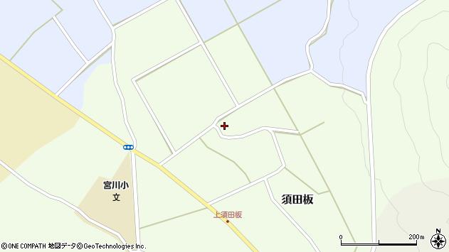 山形県上山市須田板24周辺の地図