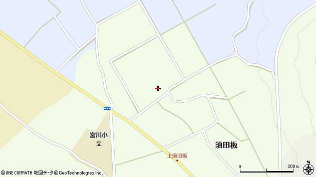 山形県上山市須田板谷地周辺の地図