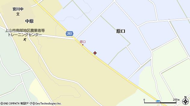 山形県上山市原口307周辺の地図