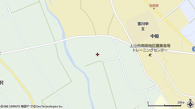 山形県上山市皆沢京塚1029周辺の地図