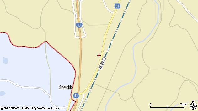 山形県上山市中山148周辺の地図