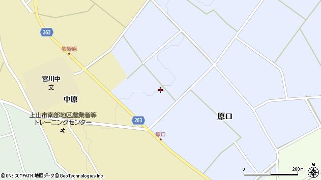 山形県上山市原口西原周辺の地図