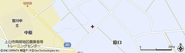 山形県上山市原口下原周辺の地図