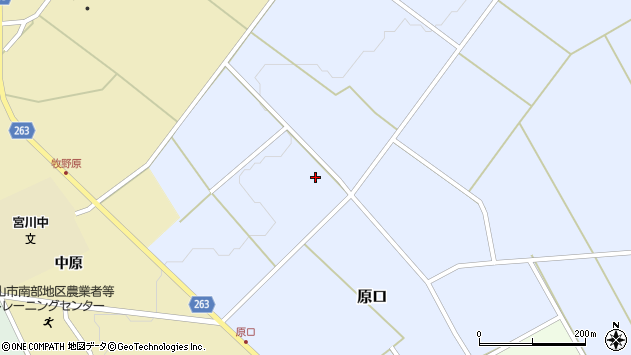 山形県上山市原口116周辺の地図