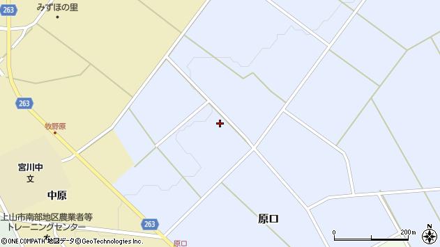 山形県上山市原口112周辺の地図