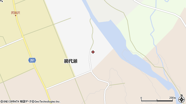 山形県西置賜郡小国町網代瀬周辺の地図