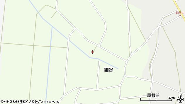 山形県上山市細谷深田周辺の地図
