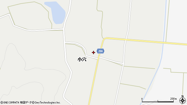 山形県上山市小穴77周辺の地図