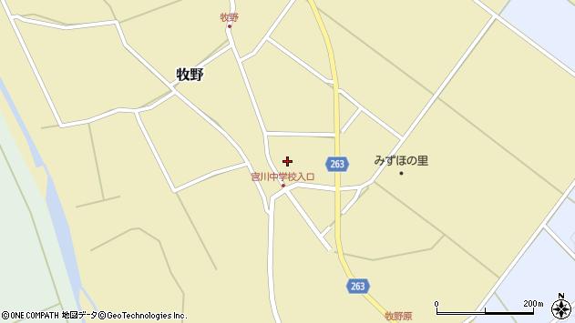 山形県上山市牧野114周辺の地図