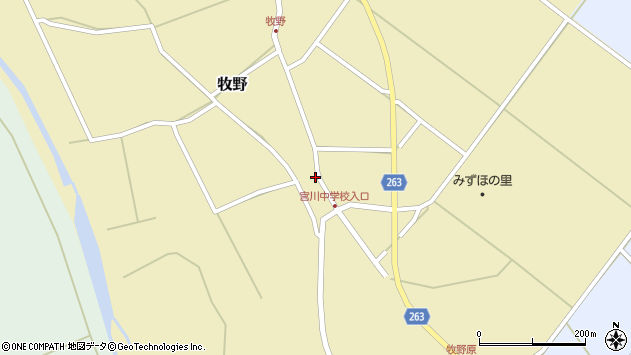 山形県上山市牧野109周辺の地図