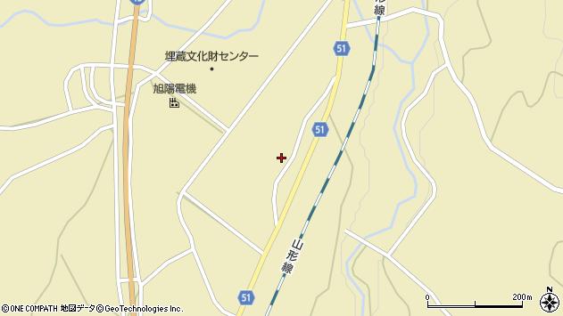 山形県上山市中山揚橋1424周辺の地図