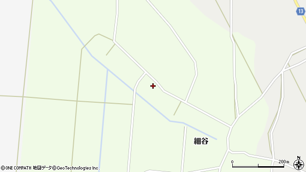 山形県上山市細谷34周辺の地図