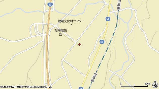 山形県上山市中山揚橋5657周辺の地図