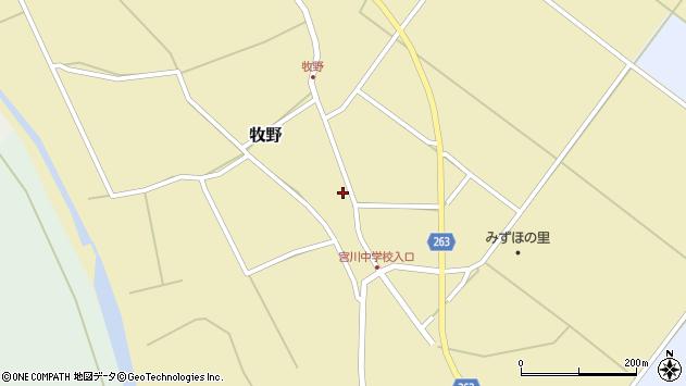 山形県上山市牧野97周辺の地図