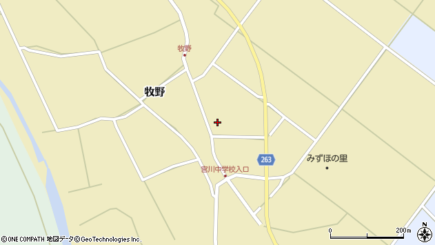 山形県上山市牧野96周辺の地図