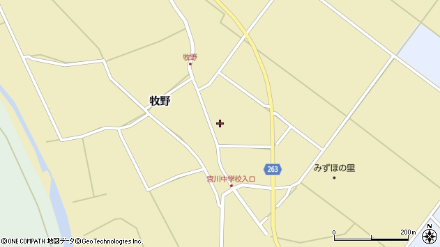 山形県上山市牧野94周辺の地図