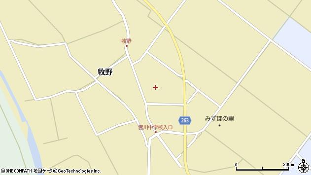 山形県上山市牧野95周辺の地図