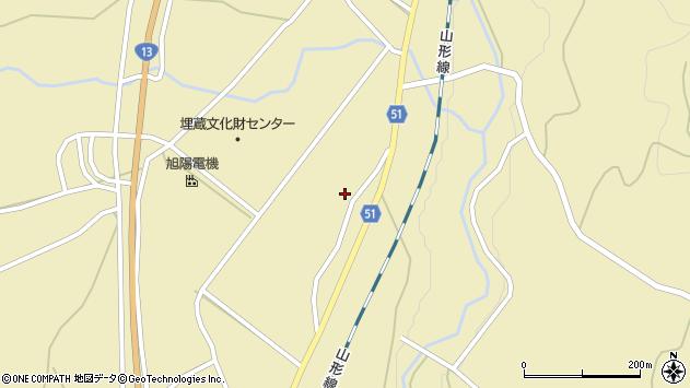 山形県上山市中山1472周辺の地図