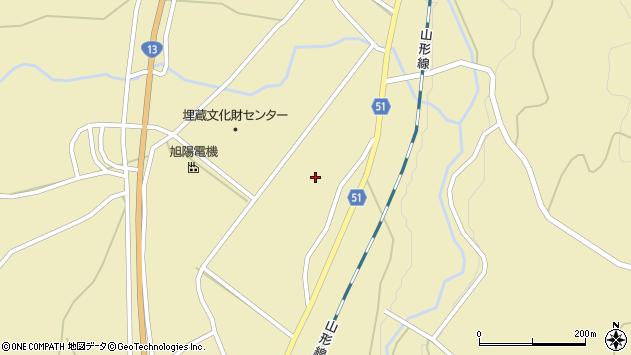山形県上山市中山揚橋5648周辺の地図