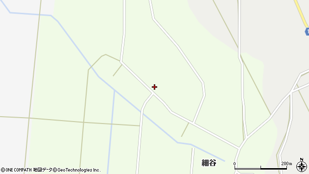 山形県上山市細谷周辺の地図