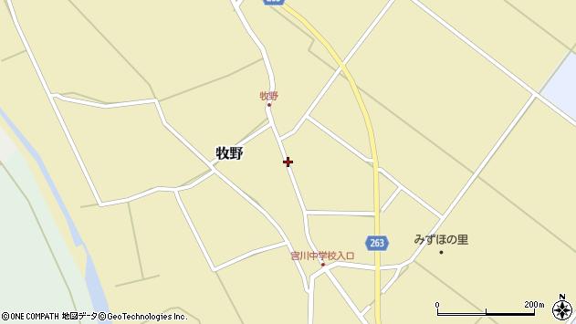 山形県上山市牧野89周辺の地図