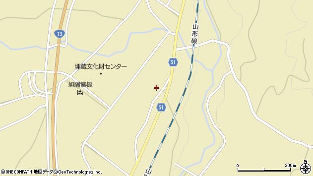 山形県上山市中山揚橋1475周辺の地図