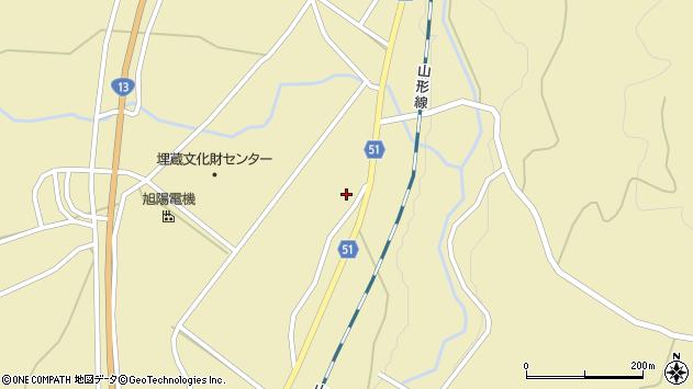 山形県上山市中山揚橋1242周辺の地図