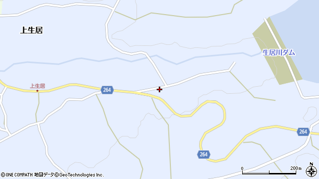 山形県上山市上生居725周辺の地図