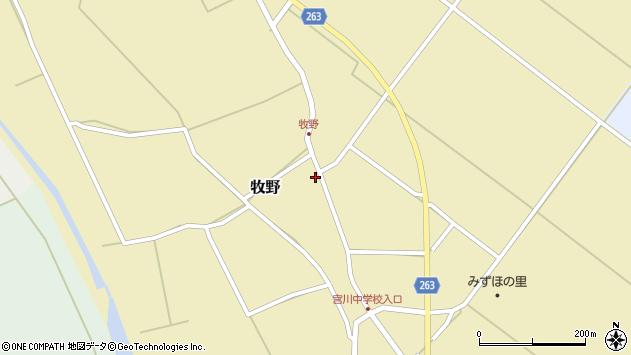 山形県上山市牧野83周辺の地図