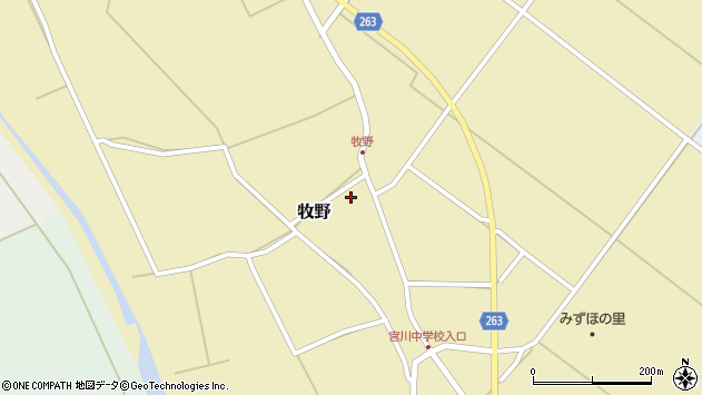 山形県上山市牧野81周辺の地図