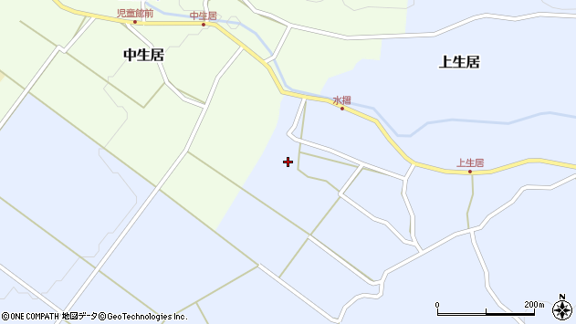 山形県上山市上生居143周辺の地図