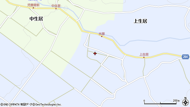 山形県上山市上生居112周辺の地図