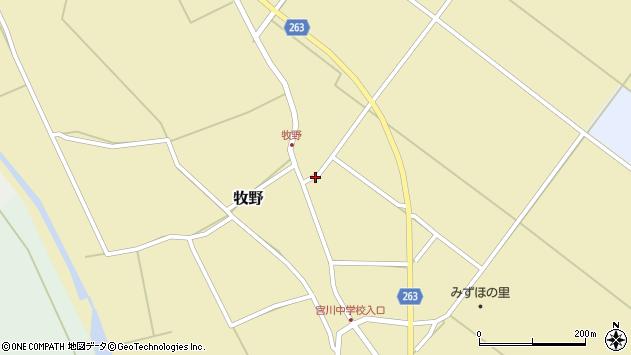 山形県上山市牧野84周辺の地図