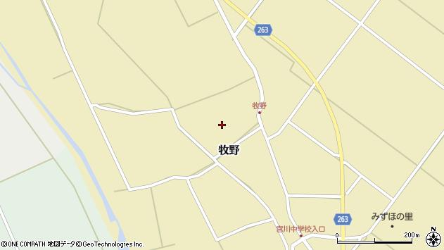 山形県上山市牧野62周辺の地図