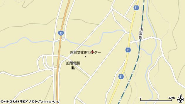 山形県上山市中山壁屋敷5608周辺の地図