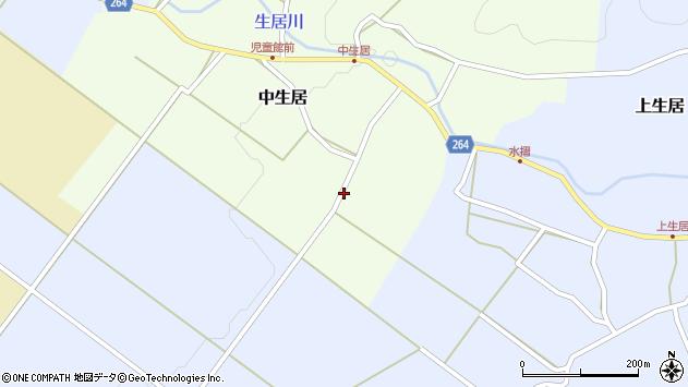 山形県上山市中生居956周辺の地図
