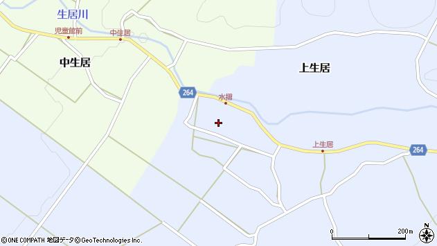 山形県上山市上生居89周辺の地図