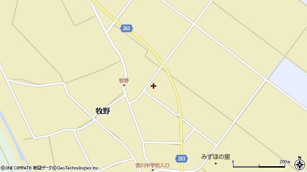 山形県上山市牧野中道周辺の地図