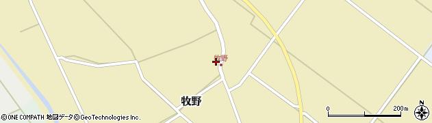 山形県上山市牧野55周辺の地図