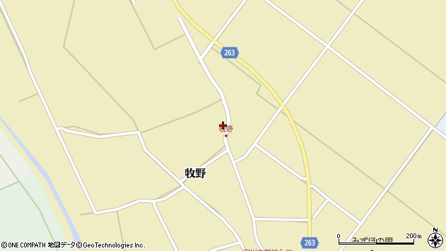 山形県上山市牧野53周辺の地図