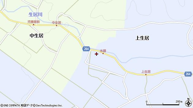 山形県上山市上生居68周辺の地図