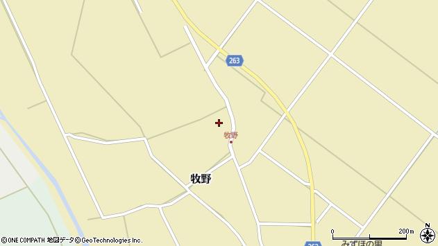 山形県上山市牧野50周辺の地図