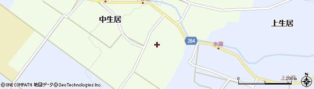 山形県上山市中生居19周辺の地図